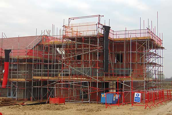 New Build Scaffold on one of our sites