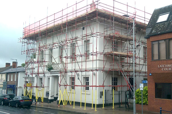 Commercial Scaffold on School Building