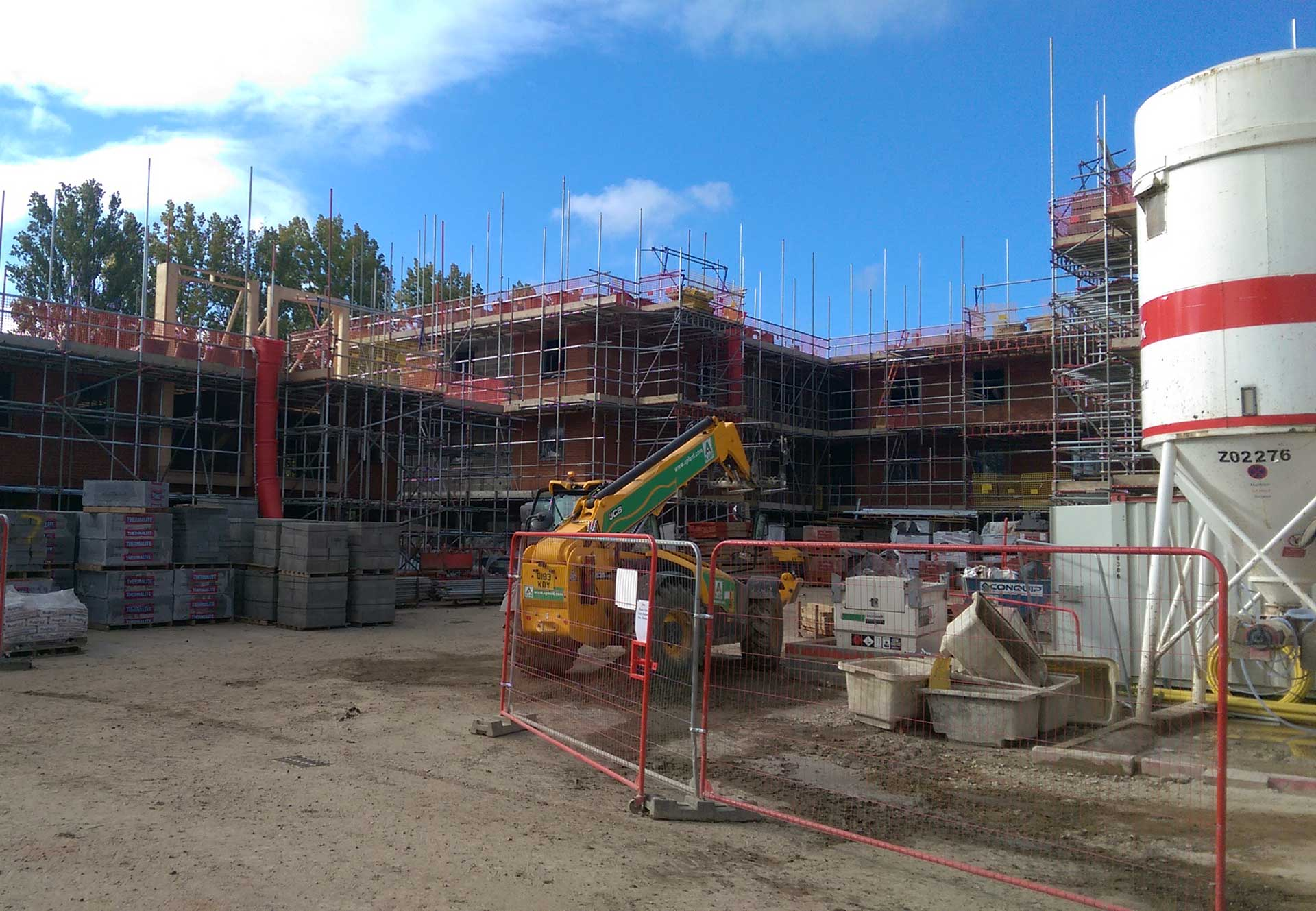 New build scaffolding, Aylesbury